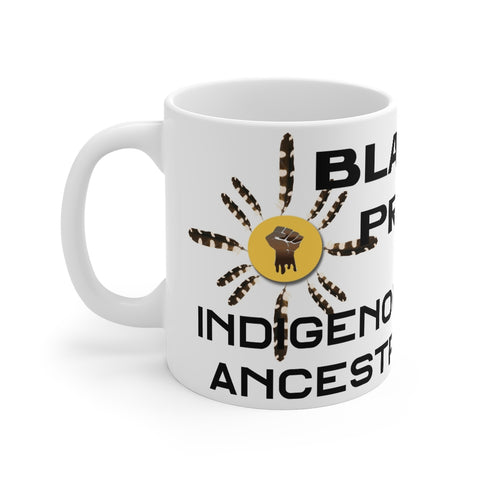 Black Indigenous Pride Mug 11oz, All Black Print