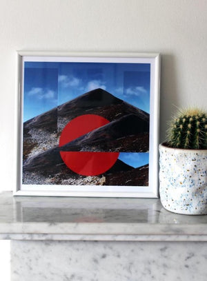 Croagh Patrick Orange Print