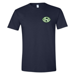DARK BLUE SILVER & GREEN SIGNATURE LOGO TEE - LEFT PATCH