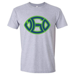 GREY BLUE & GREEN SIGNATURE LOGO TEE