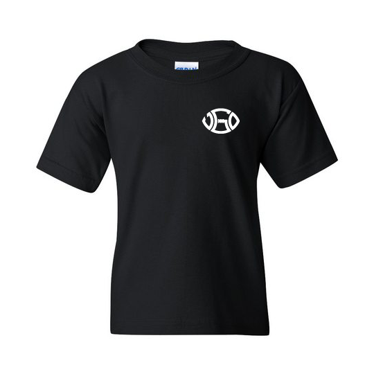 YOUTH BLACK & WHITE LOGO TEE - LEFT PATCH