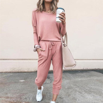 Long Sleeve Loose Long Pants Jumpsuit