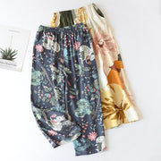 Floral Print Calf-length Pajamas Pants