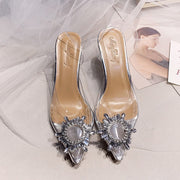 Pointed Clear Crystal Cup High Heel