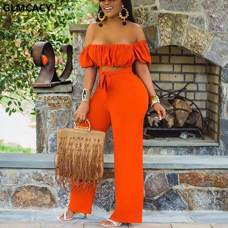Women Off Shoulder Cut Out Jumpsuit