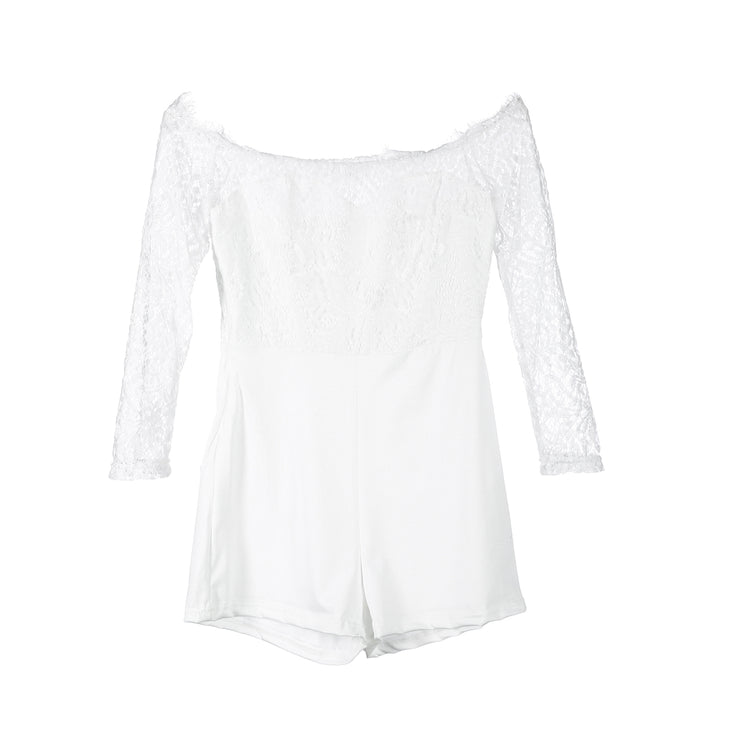 Sexy Lace Long sleeve Off shoulder Romper