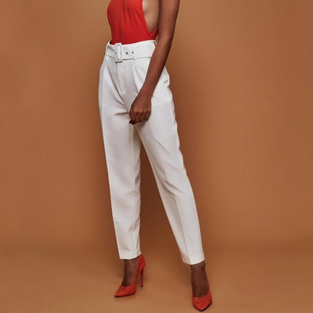 Solid Color Elasticity Straight  Bell-bottoms Pants For Women