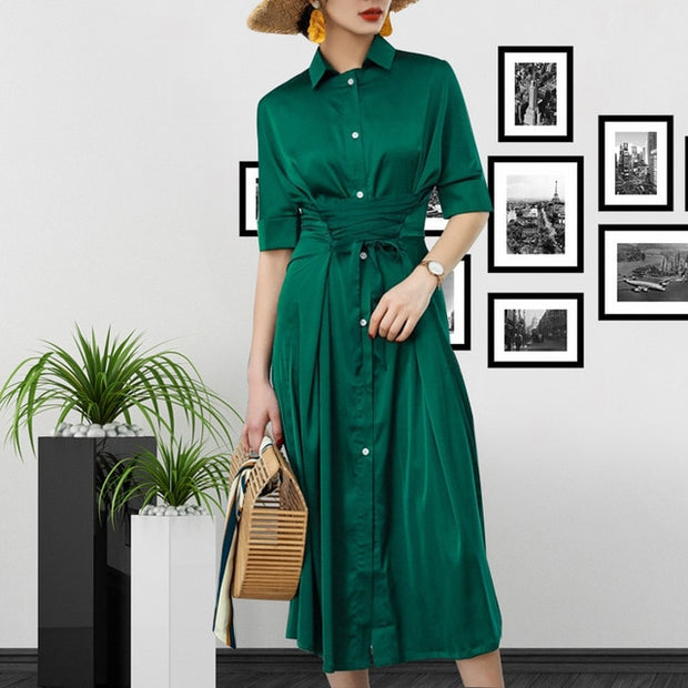 Summer Long Dress Chic Shirt Dress