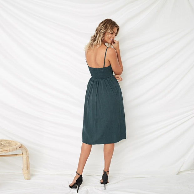 Sexy Bow Backless  Summer Dress