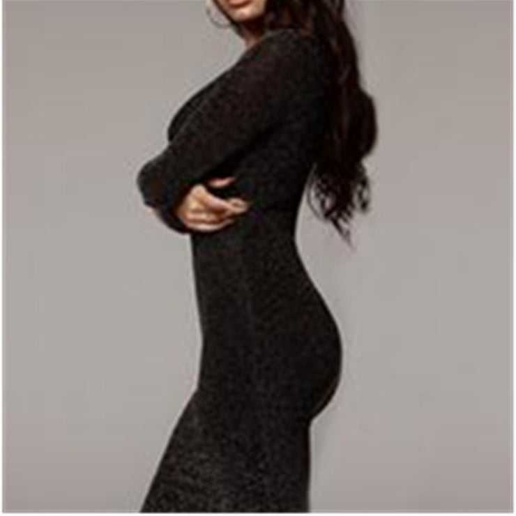 Women's Bodycon Midi Long Sleeves Evening Party Dress