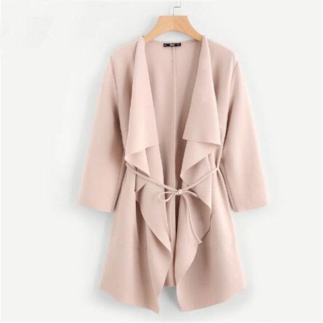 Waterfall Front Wrap Coat