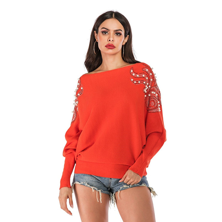 Solid Orange Pearl Sweater
