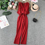 Women Casual High Waist Slim Fit Jumpsuit