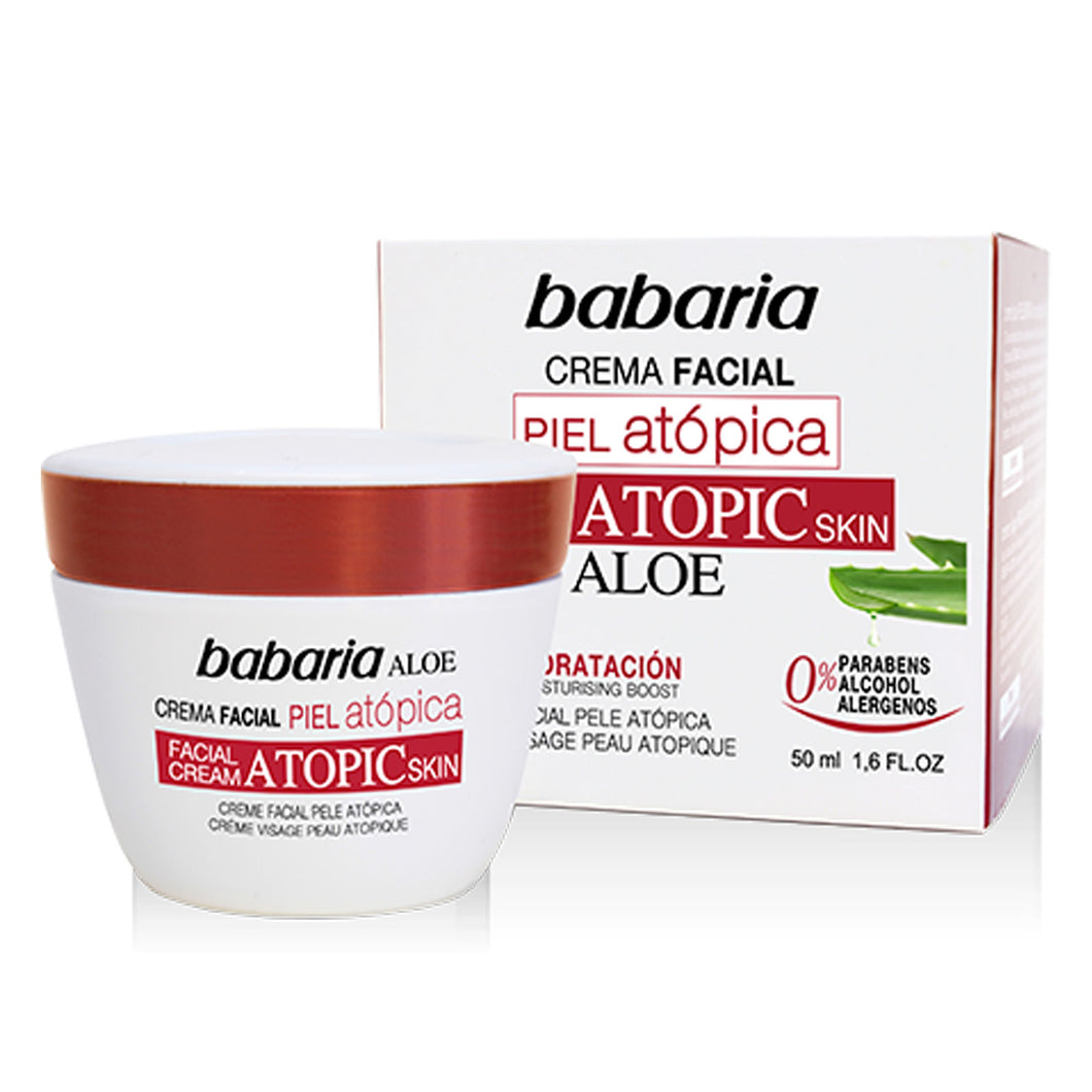 BABARIA ATOPIC SKIN FACIAL CREAM 50ML 西班牙 Babaria/芭碧兒 防敏感蘆薈面霜 50ML