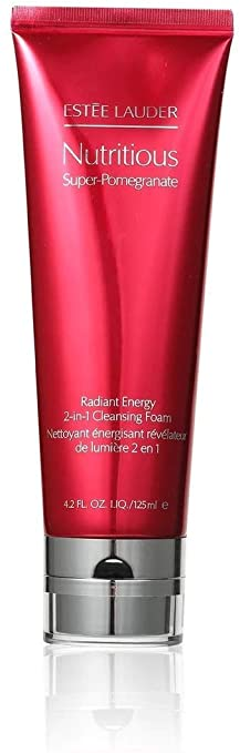 ESTEE LAUDER NUTRITIOUS SUPER-POMEGRANATE RADIANT ENERGY 2-IN-1 CLEANSING FOAM 雅詩蘭黛 升級亮肌抗氧二合一潔面泡沫 / 淨化面膜