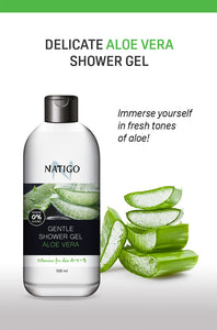 NATIGO 蘆薈溫和沐浴露   NATIGO GENTLE SHOWER GEL ALOE VERA  500ML