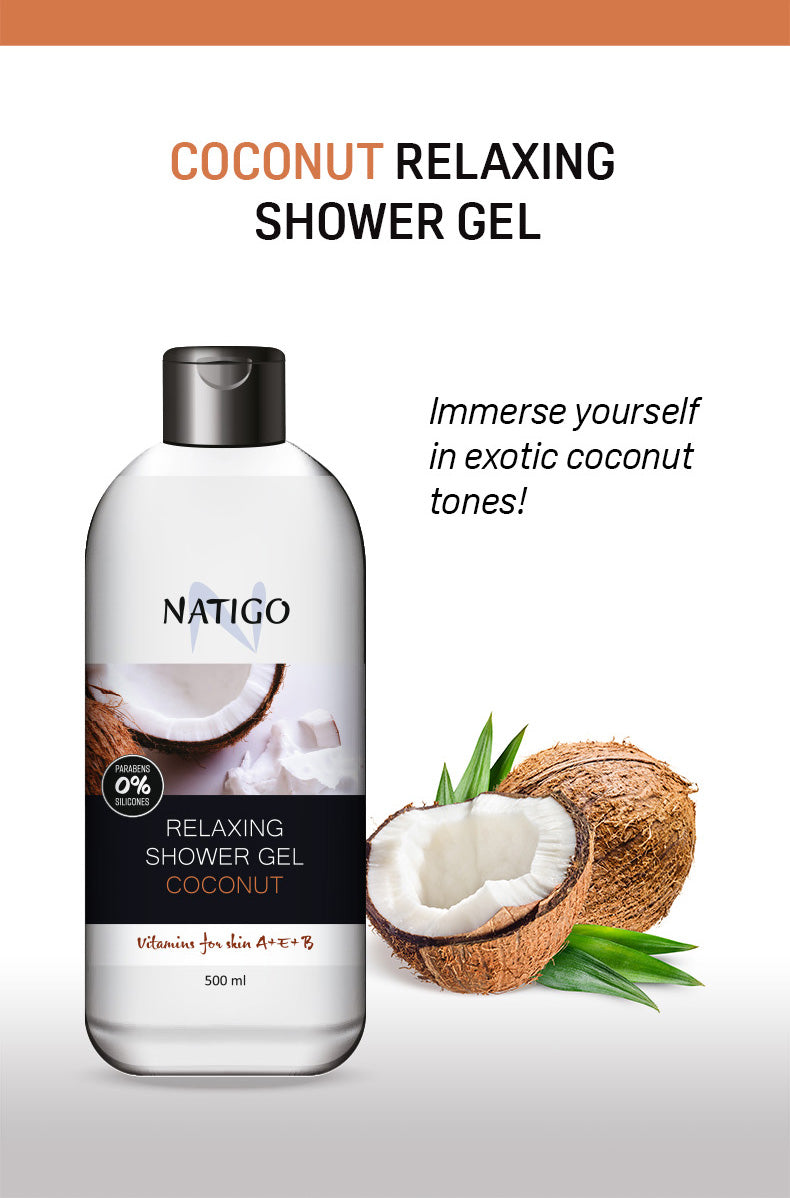 NATIGO 椰子舒緩沐浴露   NATIGO RELAXING SHOWER GEL COCONUT  500ML