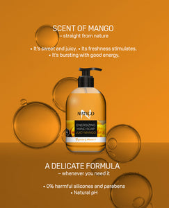 NATIGO 芒果活力潔手液   NATIGO ENERGISING HAND SOAP JUICY MANGO  500ML