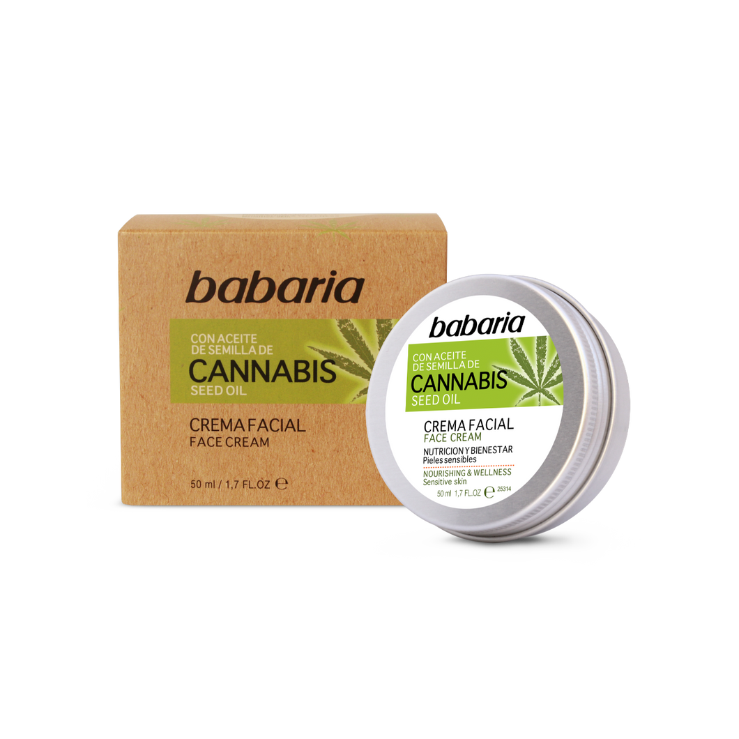 BABARIA CANNABIS SEED OIL FACE CREAM 50ML BABARIA CANNABIS SEED OIL FACE CREAM 大麻籽油敏感肌膚面霜50ML