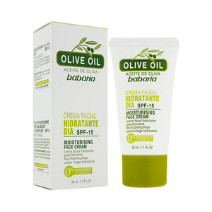 BABARIA OLIVE OIL MOISTURISER FACE CREAM 50ML 西班牙 Babaria/芭碧兒 橄欖保濕防曬乳霜 SPF 15 50ML