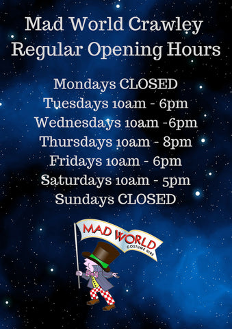 Mad World Crawley Opening Times