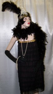 1920s black and silver flapper outfit 0906