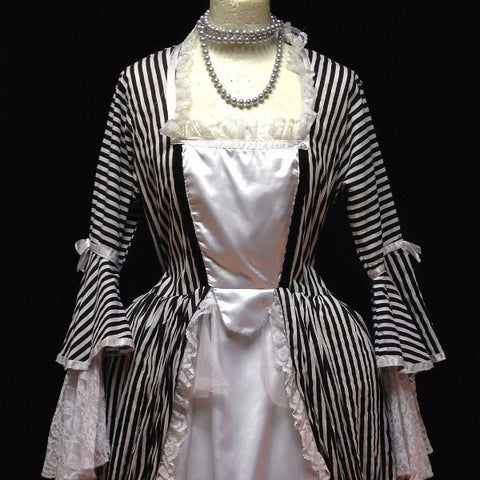 18th Century Dress in Black & White