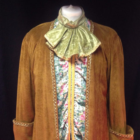 18th Century Gent in Brown and Floral Fabric