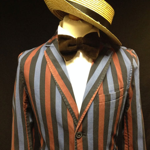 1920s Boater Man (Blue, Red & Black)