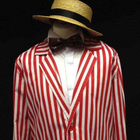 1920s Boater Man (Red & White)