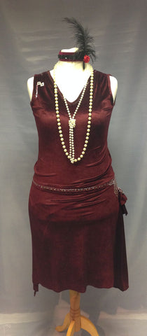 1920s Lady in Burgundy