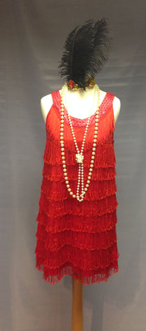1920s Flapper Girl (Red)