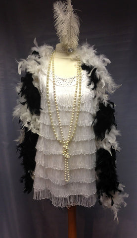 1920s Flapper in White
