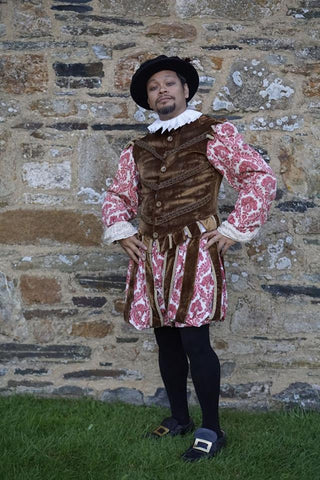 Tudor Man (Brown & Floral)
