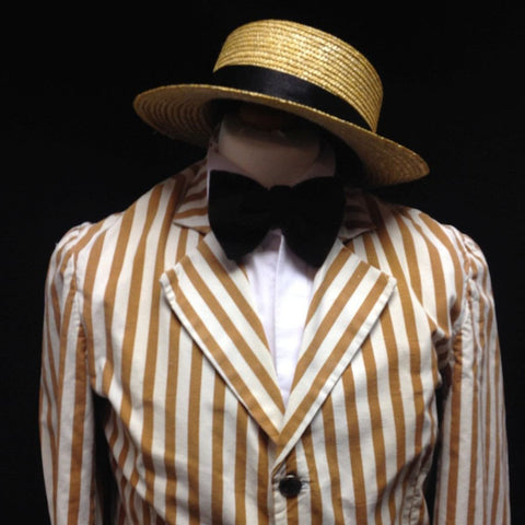 1920s Boater (Brown and Cream)