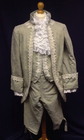 18th Century Court Gent in Pale Grey
