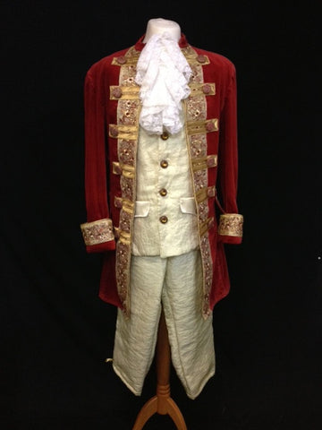 18th Century Court Gent in Ruby and Gold