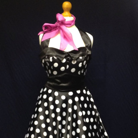1950s Polka Dot Halter Dress