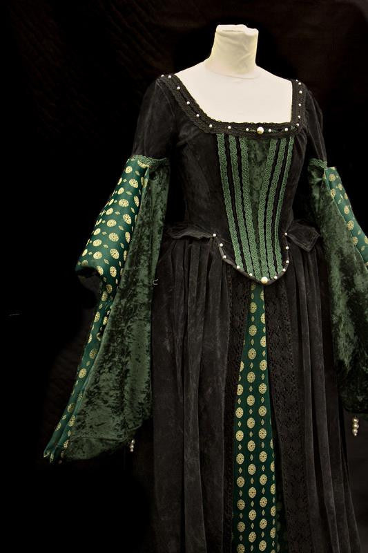 Tudor Lady in Black and Green