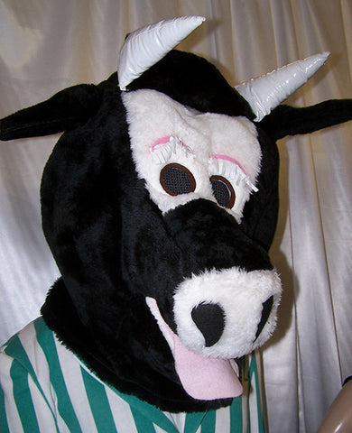 Black and White Cow Head