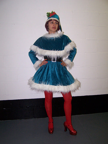 Blue Christmas Costume Miss Mistletoe