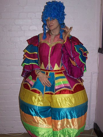 Bright Coloured Stripe Pantomime Dame