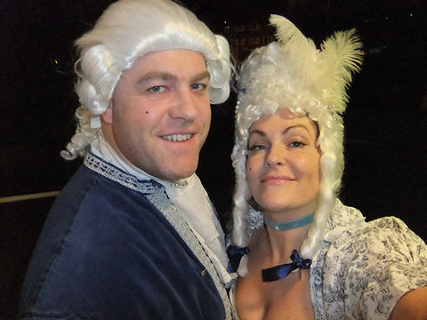 18th Century Couple in wigs