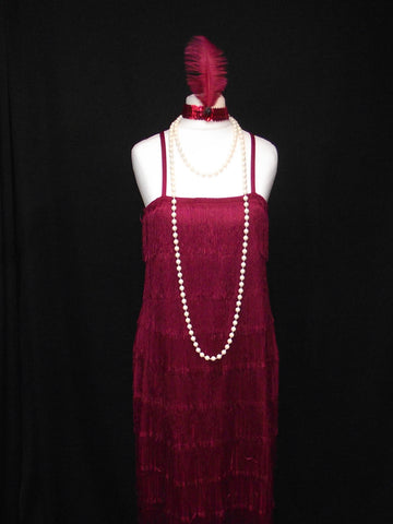 1920s Flapper Girl (Burgundy)