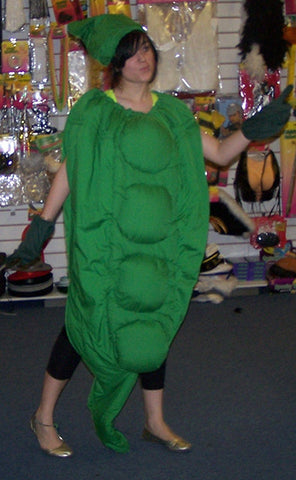 green peas in the pod fancydress costume