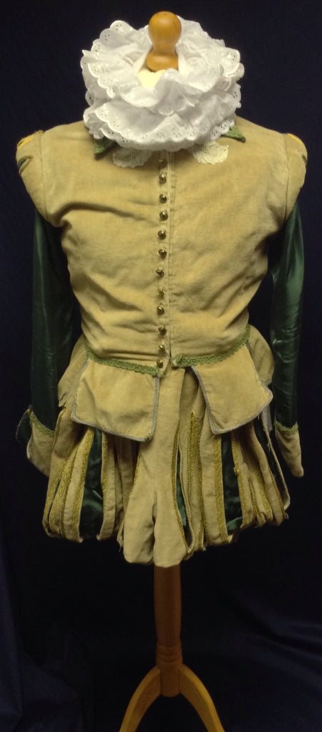 GREEN TUDOR DOUBLET AND BREECHES