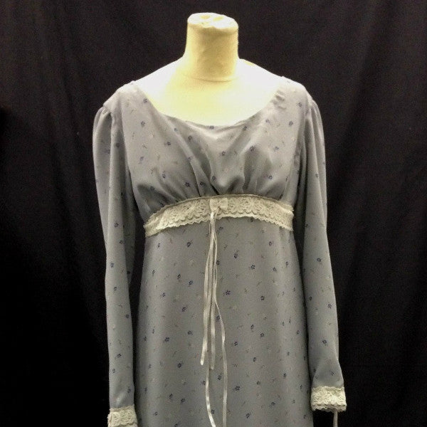Grey EMpire Line Regency Dress