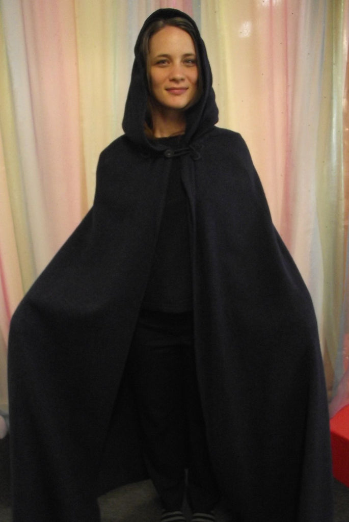 HOODED DARK CAPE