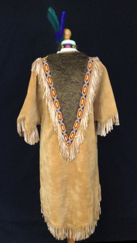 INDIAN SQUAW WITH FUR BCK