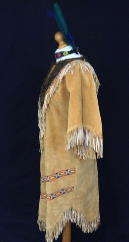 INDIAN SQUAW WITH FUR SIDE